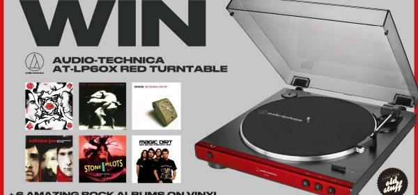 Win Audio-Technica Turntable + Rockin' Vinyl Set