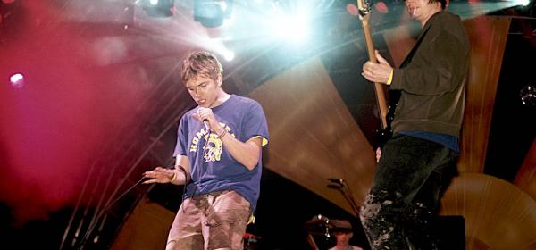 "Flashback to Blur Blasting ""Song 2"" Live at Glastonbury Festival"