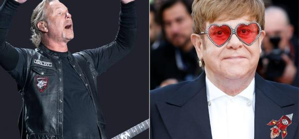 james hetfield, elton john